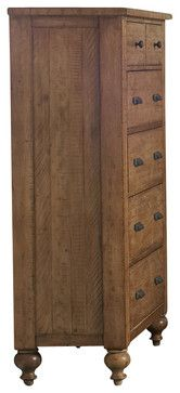 Riverside Furniture Summerhill 6 Drawer Chest in Canby Rustic Pine - farmhouse - Dressers Chests And Bedroom Armoires - Cymax
