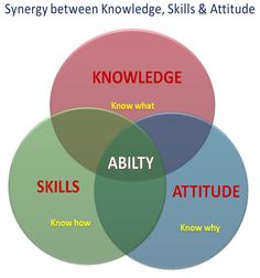 Synergy - ability = knowledge, skills, attitude