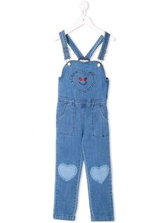 b0238d5766 Stella McCartney Kids Heart Patch Denim Overalls - Farfetch
