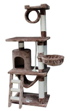 This cat tree is packed with activities for your cat. The Boston Cat Tree by Kitty Mansions. Cat Tree Condo, Cat Condo, Cat Climbing Tree, Cat Gym, Cat Perch, Tree Furniture, Scratching Post, Cat Supplies, Pet Beds