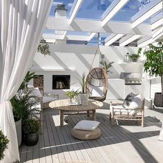 Picking the Perfect Outdoor Patio Decoration – Outdoor Patio Decor Backyard Beach, Backyard Patio Designs, Deck Patio, Backyard Seating, Outside Patio, Roof Deck, Inspire Me Home Decor, Gazebos, Patio Interior