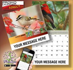 2021 Garden Song Birds Wall Calendars low as Advertise your business, organization or event logo and ad message the entire year! Wall Calendars, Garden Birds, Hands, Messages, App, Marketing, Logo, Business, Free