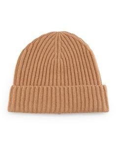 6b280289 Neiman Marcus Chunky Cuffed Beanie Hat, Camel, Men's Clothing Accessories,  Neiman Marcus,