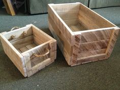 Reclaimed Oak Pallet Wood Crates