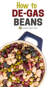 """How to De-Gas Beans. These techniques REALLY work! Find out how to take the gas out of beans and make sure you don't end up """"gassing"""" everyone else out after eating a bean-filled meal! Bean Recipes, Indian Food Recipes, Whole Food Recipes, Vegetarian Recipes, Cooking Recipes, Cooking Tips, Healthy Recipes, Delicious Recipes, Healthy Foods"""