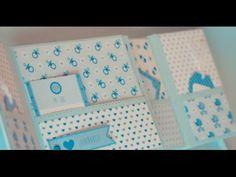 Mini álbum fotos bebé fácil | Tutorial scrapbook paso a paso | Álbum fot...