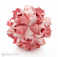 origami little roses 4 pinterest origami diagram and rh pinterest com Cherry Blossom Kusudama Diagram Origami Clover Kusudama Diagrams