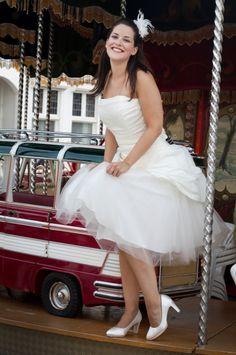 kort bruidsjurkje bij Xsasa Bruidsmode