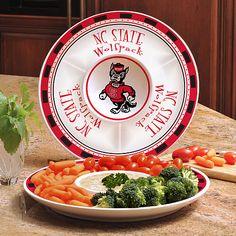 NC State Wolfpack NCAA Ceramic Chip & Dip