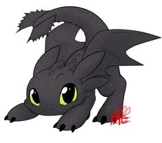 Extremely cute toothless :D Omg you just can't help but fall in love!!!!! <3