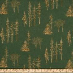 Moda Timber Trail Flannel Timberline Spruce Green from @fabricdotcom  Designed by Holly Taylor for Moda, this single-napped (brushed on face side only) flannel is perfect for quilting, apparel and home decor accents.  Colors include dark green and dark gold.