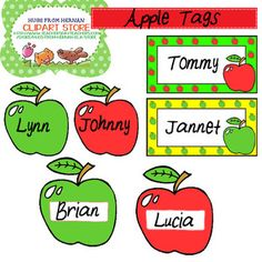 WELCOME SCHOOL - COLOR NAME TAGS CLIPART SET FOR PERSONAL AND COMMERCIAL USE - TeachersPayTeachers.com