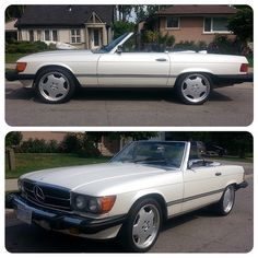 Another great work by GTA CAR WRAP. Mercedes SL560 1987 transformed from grey to 3M Satin Pearl White. Call us today at 1-844-404-WRAP (9727)
