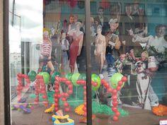 Balloons for window display