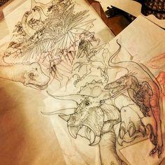 Teresa Sharpe tattoo jurassic park dinosaurs