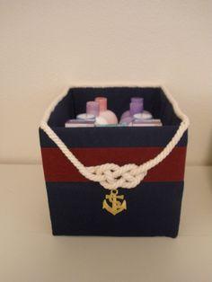 Mason's nautical nursery basket:  After