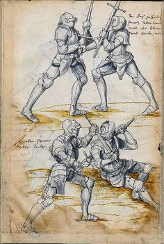 Sword Fighting Manual c.1500 630 by It's just Jack, via Flickr