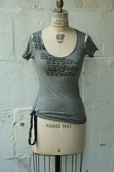 The Destroyed Painter's Tee Shirt No. 3 Hand Dyed Hand Printed MADE to ORDER. $98.00, via Etsy.