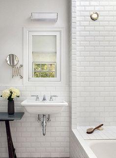 10x20cm Metro Bevel Brick White Tile by Fabresa tiles