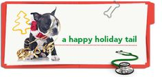 """To prevent the most expensive holiday """"gift"""" being a visit to the emergency vet, check out this pet health tip from Petplan pet insurance"""