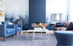 ▷ 1001 + ideas to succeed the blue living room decor and give a new look to living room Living Colors, Blue Living Room Decor, Living Room Interior, Home Living Room, Decoration Inspiration, Interior Inspiration, Decor Ideas, Style At Home, Blue Rooms