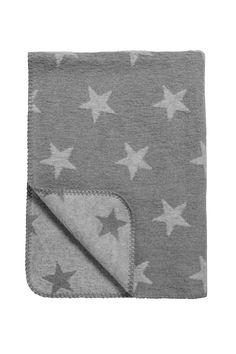 Meyco babydeken wieg/ledikant Stars grijs