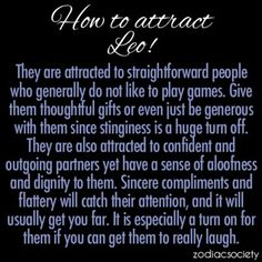 What signs are leos attracted to