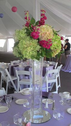 Lighthouse Vase Arrangement with Hydrangea and Stock