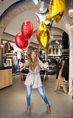 Cristina Ferreira rules with our warm sheepskin coat and Push-In jeans! #salsajeans #bloggers