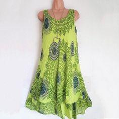 234c596fa6 Ethnic Two Layers Cotton Print Dresses – sheinlook Honeymoon Attire