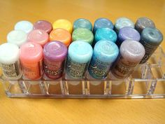 Plastic Lipstick Organizer--I have some of these with OLD lipsticks in them!  I need to use them  for daubers!!