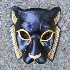 Black Sekmeht Mask   Andrea Masse-Tognetti