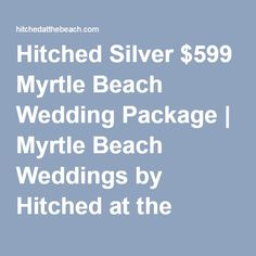Myrtle Beach Cheap Wedding Packages