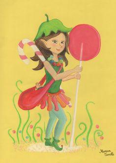 la petite fée végane, qui vient transformer les bonbons.