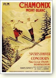 French Ski Poster
