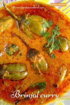 The delicious and healthy stuffed brinjal curry contains spongy texture with unique flavor sour taste by adding tamarind juice. Best serve with biryani recipes or rice or rotis. Baigan Recipes, Spicy Recipes, Curry Recipes, Cooking Recipes, Chapati Recipes, Cooking Tips, Veggie Recipes, Lunch Recipes, Smoothie Recipes