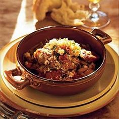 Make this chicken cassoulet dish the night before so the flavors have time to…