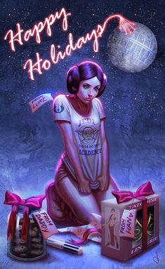 Star Wars Holiday Card - Weird christmas gifts for Leia | SaraForlenza on DeviantArt