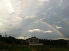 虹。六塊厝漁港。20130623。