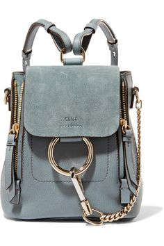 1b5e02489801 Chloé - Faye mini leather and suede backpack