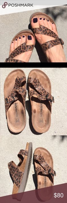 c988c39093110a Mephisto sandals Very comfy! Animal print. Excellent condition. No box. Mephisto  Shoes