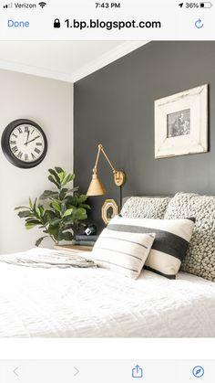 Bedroom Wall Colors, Home Decor Bedroom, Bedroom Ideas, Guy Bedroom, 1920s Bedroom, Bedroom Color Schemes, Master Bedrooms, Bedroom Designs, Modern Farmhouse Bedroom