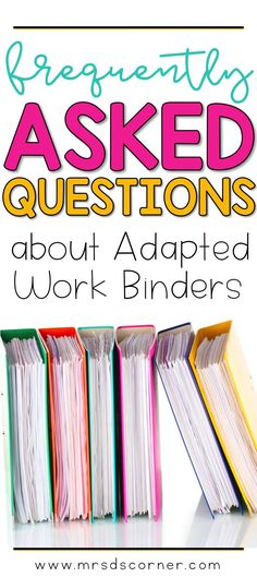 Adapted Work Binders