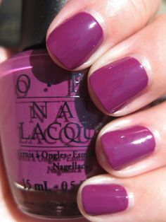 OPI nail polish - Pamplona Purple