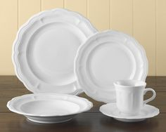 Pillivuyt Queen Anne Porcelain Dinnerware Place Settings  Sugg. Price: $108.00 – $432.00 Our Price: $91.80 – $367.20
