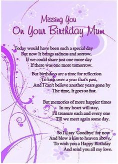 Picture 2 Of 3 Mom Birthday Quotes Wishes Poems Mum
