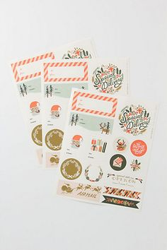 Holiday Stickers & Labels  #anthropologie