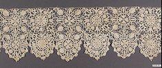 Date:      ca. 1600  Culture:      Netherlandish  Medium:      Needle lace  Dimensions:      L. 72 x W. 6 inches (182.9 x 15.2 cm)