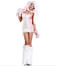 Easter is around the corner and kids will want chocolate and see the Easter Bunny. The bunny brings joy. Find sexy Easter Bunny Costume ideas for women. Buy Halloween Costumes, Wicked Costumes, Cool Costumes, Costumes For Women, Halloween 2013, Easter Bunny Costume, Easter Costumes, Rave Wear, Clubwear