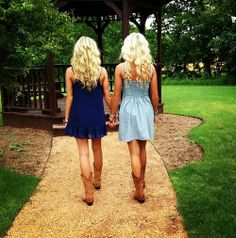 Curly blonde hair so pretty! And their sundresses with cowgirl boots love it:) but on a dirt road @Maria Canavello Mrasek Canavello Mrasek Henderson W